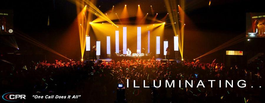 orlando audio lighting staging backline rentals for event