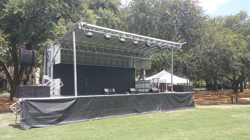 Mobile Staging Equipment & Mobile Stage Rentals for Event